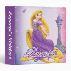 Avery Signature 1' Binder with Tangled's Rapunzel with Tower design