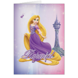 Greeting Card with Tangled's Rapunzel with Tower design
