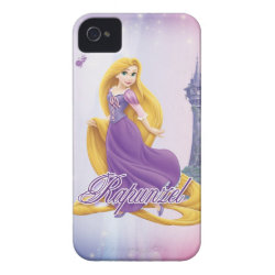 Case-Mate iPhone 4 Barely There Universal Case with Tangled's Rapunzel with Tower design