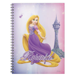 Photo Notebook (6.5' x 8.75', 80 Pages B&W) with Tangled's Rapunzel with Tower design