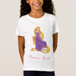 Girls' Fine Jersey T-Shirt with Tangled's Rapunzel with Tower design