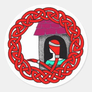 Rapunzel (red) classic round sticker