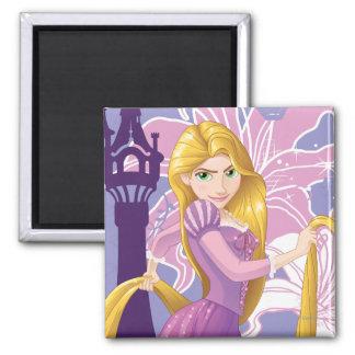 Rapunzel - resuelto imán cuadrado