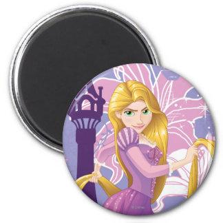 Rapunzel - resuelto imán redondo 5 cm