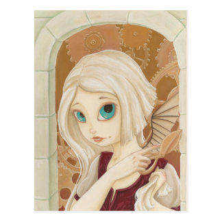 Rapunzel - Steam punk Fairy tale Post Card