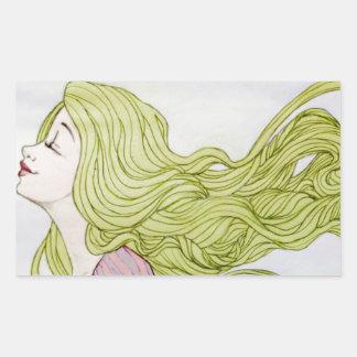 Rapunzel Rectangle Sticker