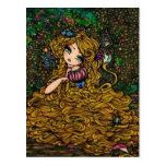 Rapunzel Storybook Princess Original Art Postcard