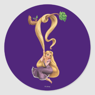 Rapunzel Swinging from Branch 2 Classic Round Sticker