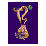 Rapunzel Swinging from Branch 2 Greeting Card