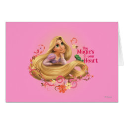 Greeting Card with Dreamy Rapunzel from Tangled design