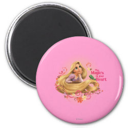 Round Magnet with Dreamy Rapunzel from Tangled design