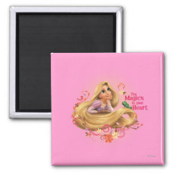 Square Magnet with Dreamy Rapunzel from Tangled design