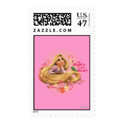 Medium Stamp 2.1' x 1.3' with Dreamy Rapunzel from Tangled design