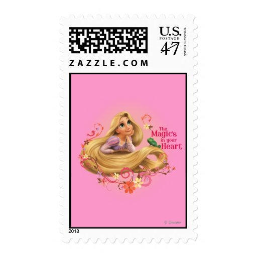 Rapunzel - The Magic's in your Heart Postage Stamp