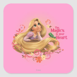 Square Sticker with Dreamy Rapunzel from Tangled design