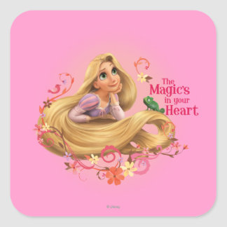 Rapunzel - The Magic's in your Heart Square Stickers
