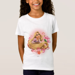 Girls' Fine Jersey T-Shirt with Dreamy Rapunzel from Tangled design