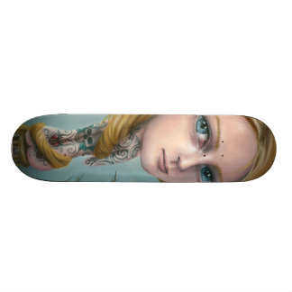 Rapunzel the Tattoo Girl Skateboard