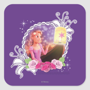 Rapunzel - There's Magic in the World Square Sticker