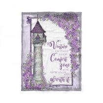 Rapunzel Tower Fleece Blanket
