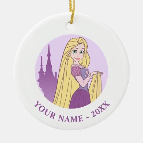 Rapunzel & Tower Graphic Ceramic Ornament