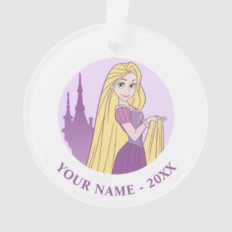 Rapunzel & Tower Graphic Ornament