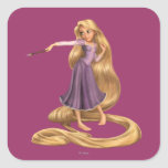 Rapunzel with Paintbrush 2 Square Stickers