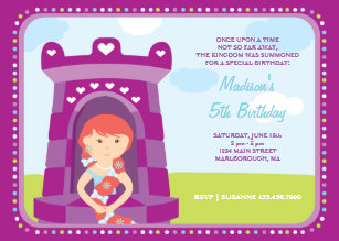Rapunzel birthday invitations zazzle rapunzels castle birthday invitation filmwisefo