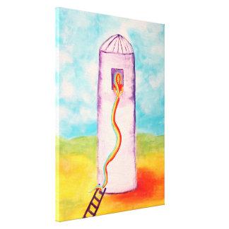 Rapunzel's New Plan Art By Victoria Lynn Hall Canvas Prints