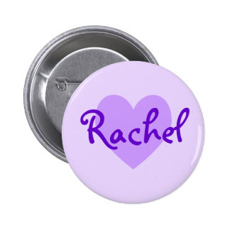 Raquel en púrpura pin redondo de 2 pulgadas
