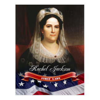 Raquel Jackson, primera señora de los E.E.U.U. Tarjeta Postal