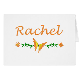 Raquel (mariposa anaranjada) tarjeta de felicitación