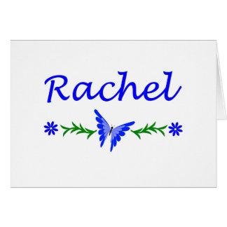 Raquel (mariposa azul) tarjeta de felicitación