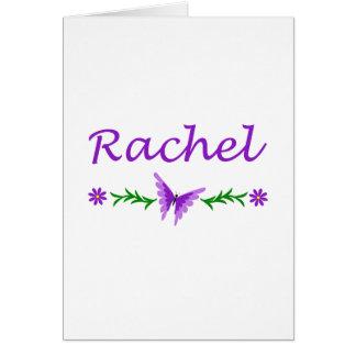 Raquel (mariposa púrpura) tarjeta de felicitación