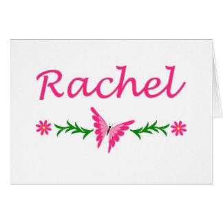 Raquel (mariposa rosada) tarjeta pequeña