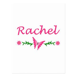 Raquel (mariposa rosada) tarjeta postal