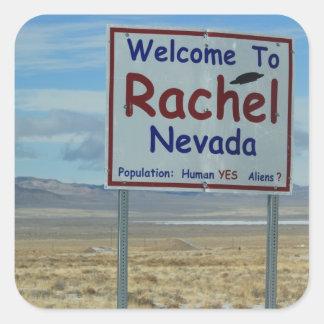 """Raquel Nevada 3"""" pegatinas - sistema de 6 Pegatina Cuadrada"""
