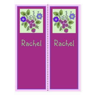 Raquel personalizó la postal de la señal