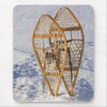 Raquetas en la nieve Mousepad Tapete De Raton