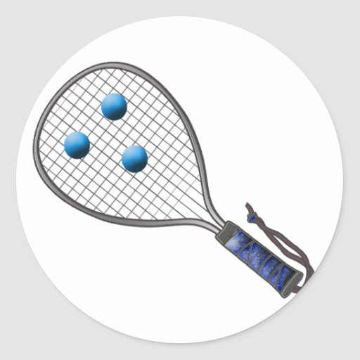 Raquetball Face made with balls Classic Round Sticker