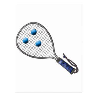 Raquetball Face made with balls Postcard