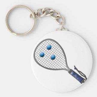 Raquetball hace frente hecho con las bolas llaveros