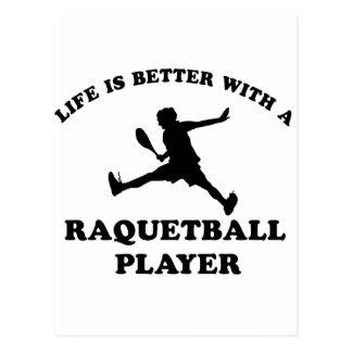 Raquetball Vector designs Postcard