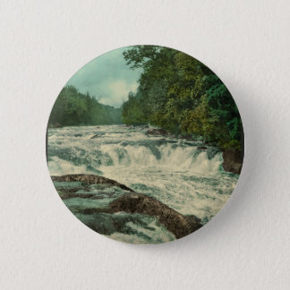 Raquette Falls on the Raquette River Pinback Button