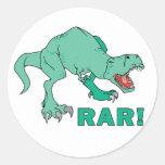 ¡Rar de Rex del Tyrannosaurus! Pegatina Redonda