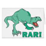 ¡Rar de Rex del Tyrannosaurus! Tarjetón