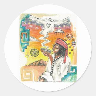 Raramuri Prayer Classic Round Sticker