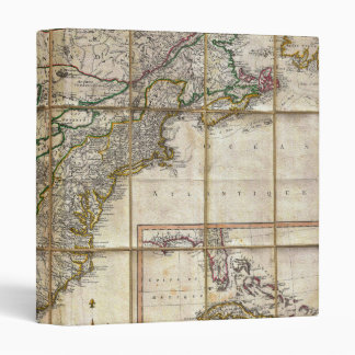 RARE 1779 Colonial America Map by Rene Phelippeaux 3 Ring Binder