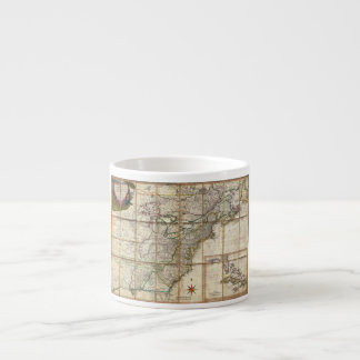 RARE 1779 Colonial America Map by Rene Phelippeaux Espresso Cup