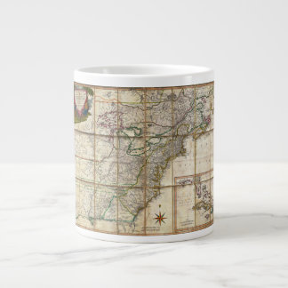 RARE 1779 Colonial America Map by Rene Phelippeaux Large Coffee Mug